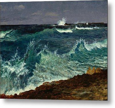 Seascape Metal Print by Albert Bierstadt