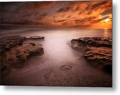 Seaside Reef Sunset 3 Metal Print by Larry Marshall
