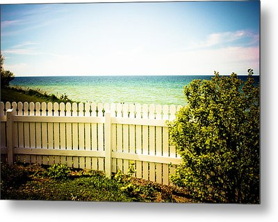 Seaside Retreat Metal Print by Sara Frank