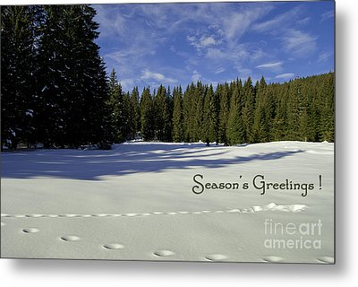 Season's Greetings Austria Europe Metal Print by Sabine Jacobs