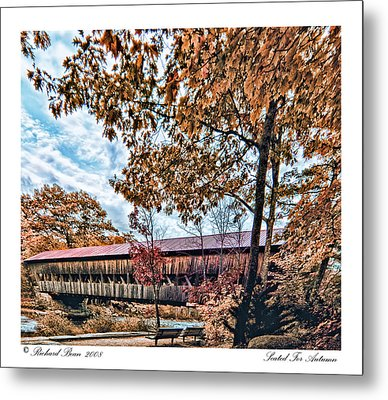 Metal Print featuring the photograph Seated For Autumn by Richard Bean