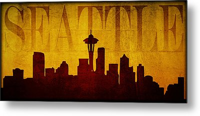 Seattle Metal Print by Ricky Barnard
