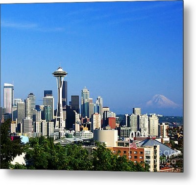 Metal Print featuring the photograph Seattle Skyline by Jack Moskovita