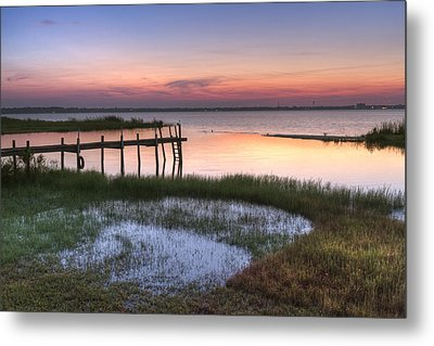 Sebring Sunrise Metal Print by Debra and Dave Vanderlaan