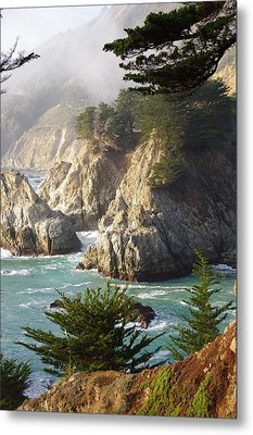 Secluded Big Sur Cove 1 Metal Print by Jeff Lowe
