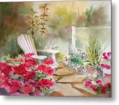 Metal Print featuring the painting Secret Garden by Richard Willows