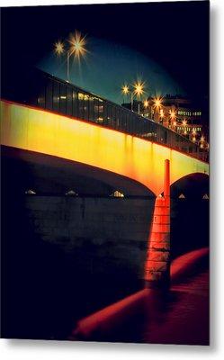 Secrets Of London Bridge Metal Print by Jasna Buncic
