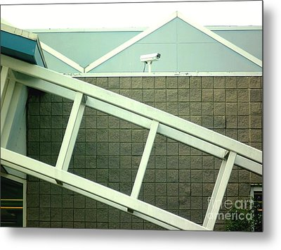 Metal Print featuring the photograph Security Camera On Government Building by Renee Trenholm