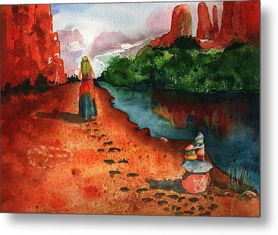 Sedona Arizona Spiritual Vortex Zen Encounter Metal Print by Sharon Mick