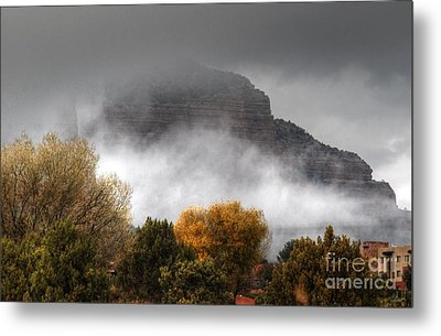Metal Print featuring the photograph Sedona Fog by Tam Ryan