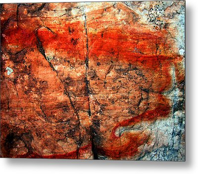 Sedona Red Rock Abstract 2 Metal Print