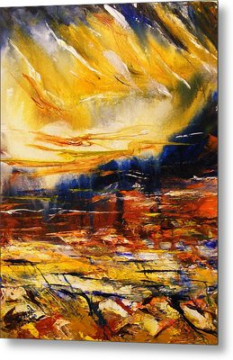 Metal Print featuring the painting Sedona Sky by Karen  Ferrand Carroll