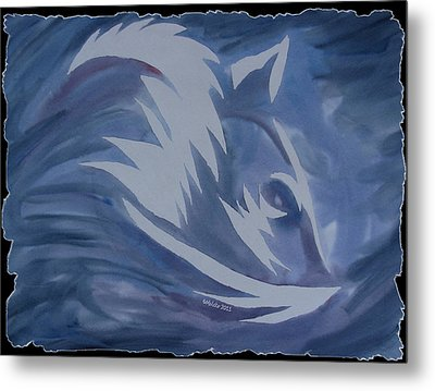 Seduction In Blue Metal Print by Mark Schutter