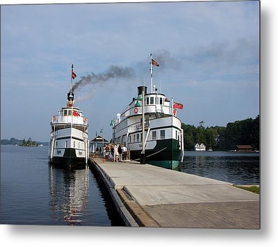 Seguin And Winona At Gravenhurst Metal Print by Bruce Ritchie
