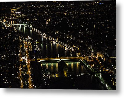 Seine River Atop The Eiffel Tower Metal Print by Marta Cavazos-Hernandez