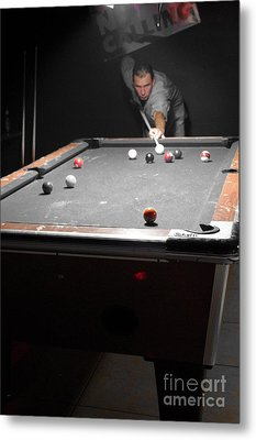 Selective Billiards Metal Print by Lynda Dawson-Youngclaus