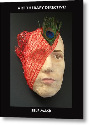 Self Mask Metal Print by Anne Cameron Cutri
