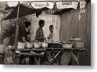Seller Metal Print by Arik S Mintorogo
