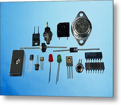Semiconductor Components Metal Print by Andrew Lambert Photography