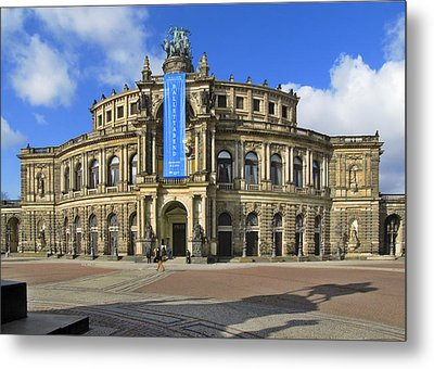 Semper Opera House - Semperoper Dresden Metal Print by Christine Till