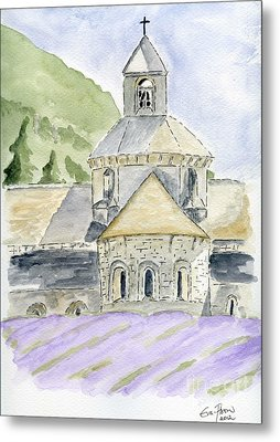 Senanque Abbey Provence Metal Print