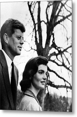 Senator John F. Kennedy, Jackie Metal Print by Everett