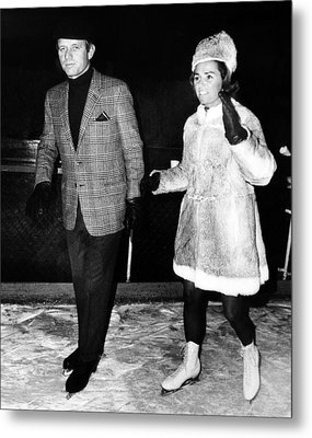 Senator Robert F. Kennedy And Ethel Metal Print by Everett