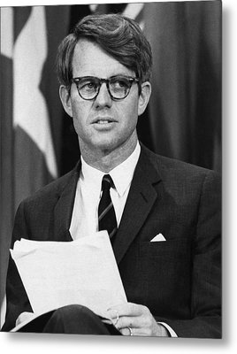 Senator Robert F. Kennedy Waits Metal Print by Everett