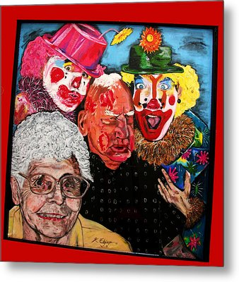 Send In The Clowns Metal Print by Karen Elzinga