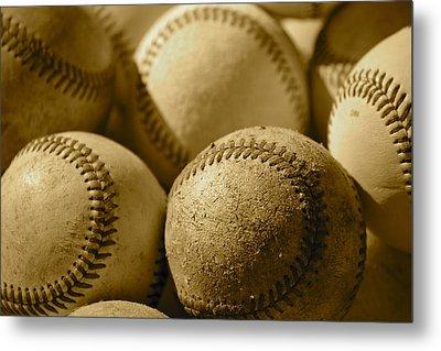 Sepia Baseballs Metal Print by Bill Owen