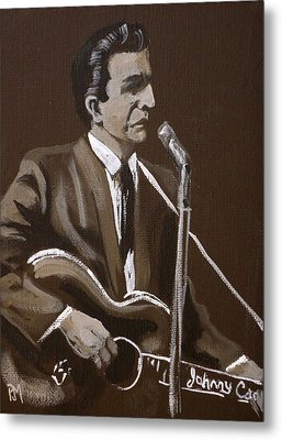 Sepia Johnny Metal Print by Pete Maier