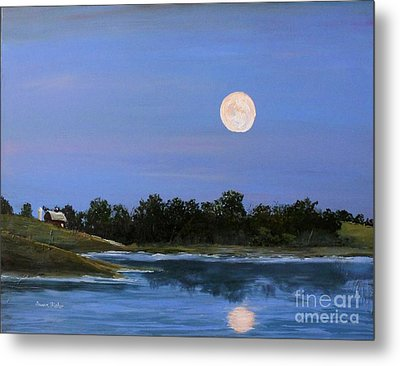 Metal Print featuring the painting September Moon by Susan Fisher