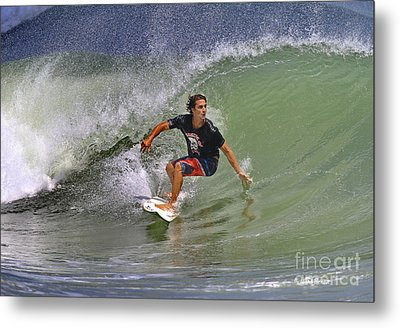 September Ponce Inlet Surfer Metal Print