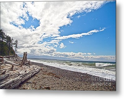 Sequim Beach Metal Print
