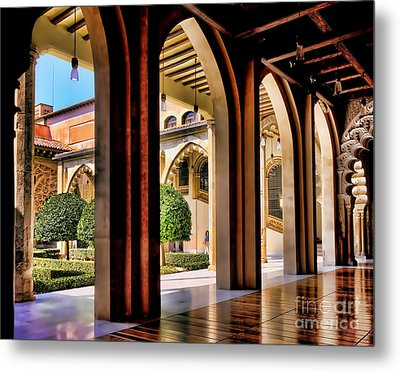 Metal Print featuring the photograph Serenity - Palace Garden by Jack Torcello