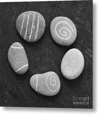 Serenity Stones Metal Print by Linda Woods