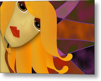 Seriously- Do I Look Like I Care? Metal Print by Melisa Meyers
