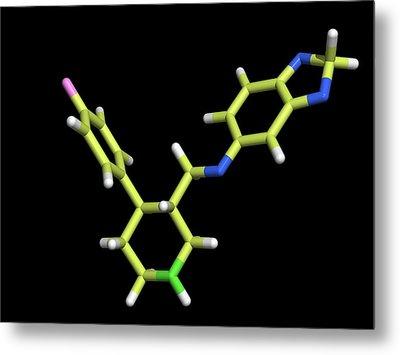 Seroxat (paroxetine) Molecule Metal Print by Dr Tim Evans