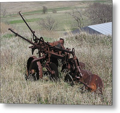 Set Out To Pasture Metal Print by Steve Sperry