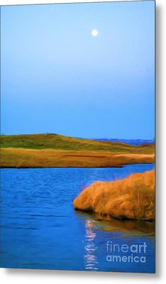 Setting Moon Metal Print