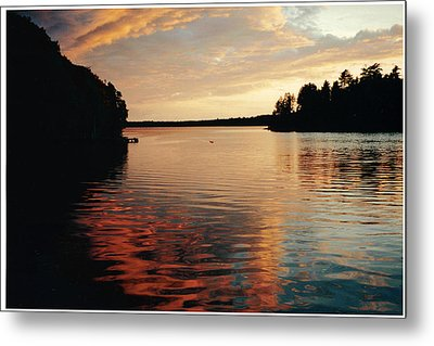 Metal Print featuring the photograph Setting Sun by Patricia Hiltz