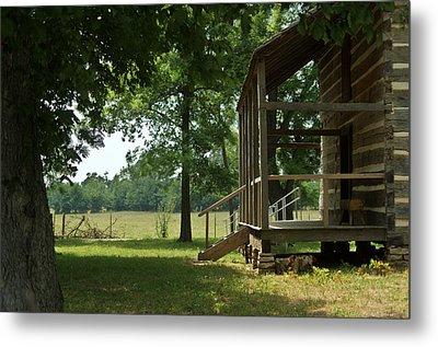Settlers Cabin Arkansas 2 Metal Print by Douglas Barnett