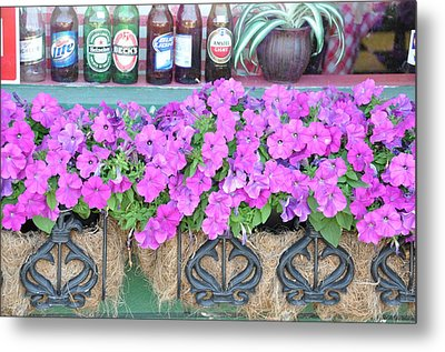 Seven Bottles Of Beer On The Wall Metal Print by Jan Amiss Photography