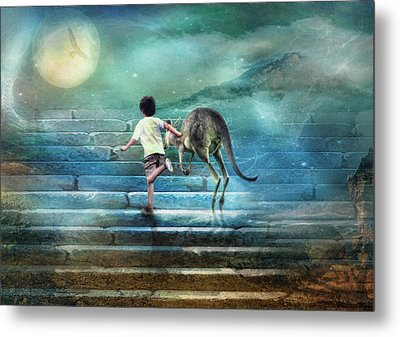 Seven Steps To The Moon Metal Print by Trudi Simmonds
