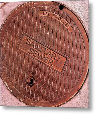 Metal Print featuring the photograph Sewer Cover by Bill Owen