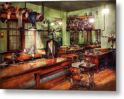 Sewing - Industrial - The Sweat Shop  Metal Print by Mike Savad