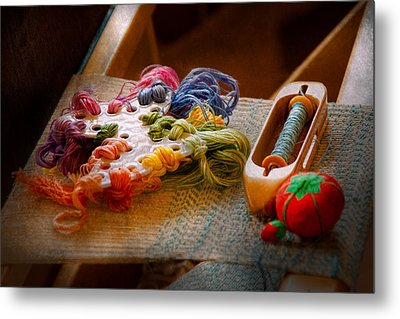 Sewing - Yarn - Threads Of Time Metal Print
