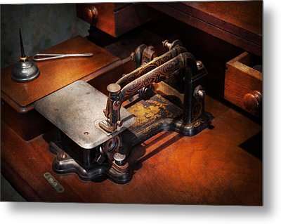 Sewing Machine - Sewing For Small Hands  Metal Print by Mike Savad