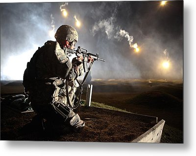 Sgt. Larry J. Isbell During The Armys Metal Print by Everett