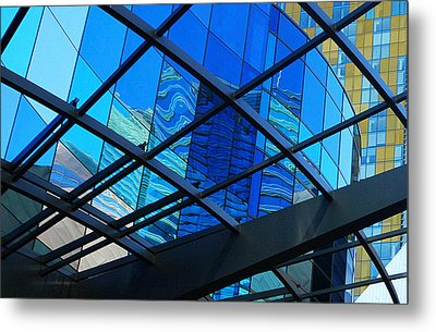Shades Of Blue Metal Print by Linda Edgecomb